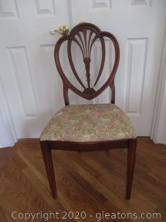 Sheraton Style Occasional Upholstered Chair