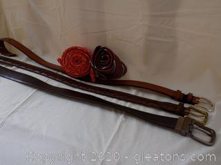 Men's Dress Belt and Tie
