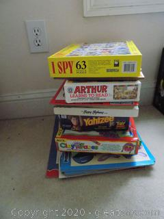 Lot of Children's Games & Puzzles