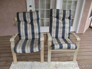 2 Oversized Outdoor Chairs