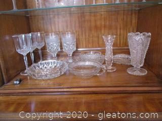 Cut Glass Lot 12 Pieces