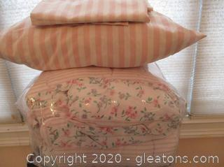 Custom Made Queen/Full Size Comforter W/Pillow Shams
