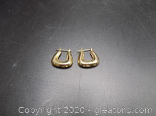 14k Hoop Earrings Pair B