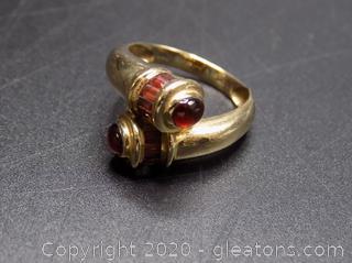 14k Garnet Ring