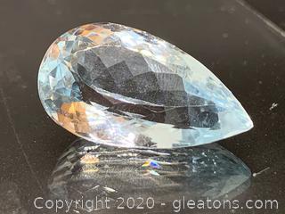 Enormous Loose Blue Topaz Stone 38 Carat
