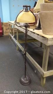 TALL METAL LAMP WITH GLOBE (1)