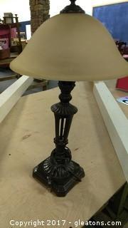 METAL GLOBE LAMP