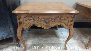 DREXEL COUNTRY FRENCH END TABLE #1