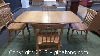 THOMASVILLE DROPLEAF TABLE WITH SIX CHAIRS