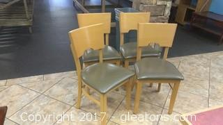 SET OF FOUR RESTURANT CHAIRS (2)