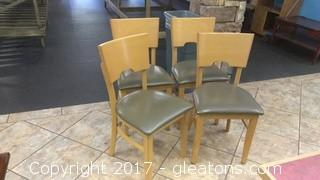 SET OF FOUR RESTURANT CHAIRS (3)