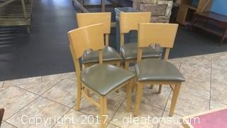 SET OF FOUR RESTURANT CHAIRS (5)