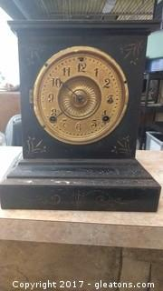 ANTIQUE IRON ANSONIA CLOCK NEW YORK