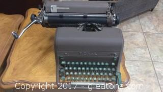 ROYAL TYPEWRITER WITH COVER
