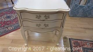 CREAM FRENCH NIGHTSTAND