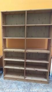 TALL PINE BOOKCASE WITH TWELVE SHELVES