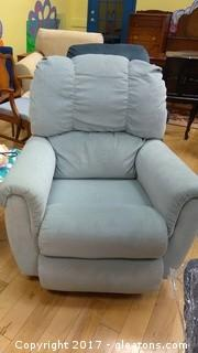 LIGHT BLUE RECLINER