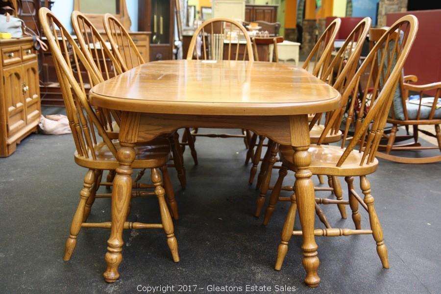 Thomasville Oak Dining Set