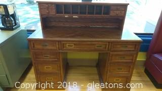 WOOD DESK WITH TOP PIECE