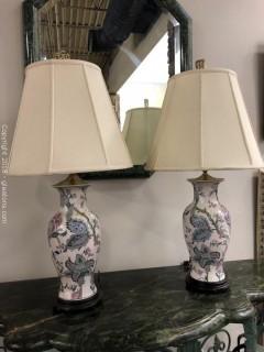 Pair Table Lamps Oriental