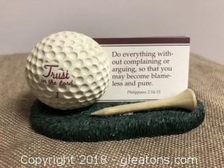 Golf Ball Business Card Holder