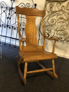 Antique, Hand Carved Rocking Chair