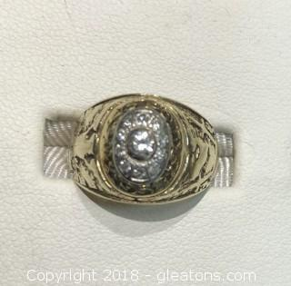 14k Yellow Gold, 1952 West Point Ring