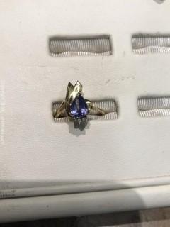 Tanzanite, Diamond and Gold Ring