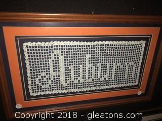 Custom Framed Auburn Crochet