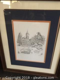 """""""Sweet Auburn Loveliest Village on the Plains"""" Framed Art by Gina Graves"""