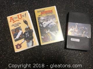 3 Vintage VHS Auburn VHS Tapes - 1987, 1993, 1994