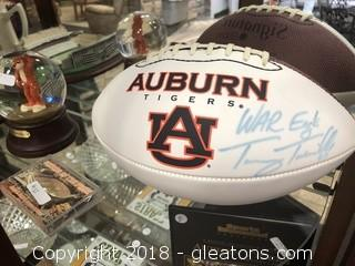 Signed Tommy Tubberbille Auburn Football