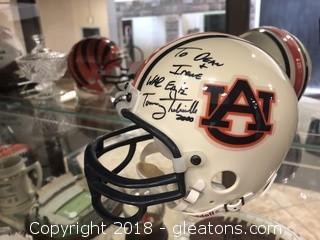 Tommy Tubberville Signed Mini Helmet Auburn