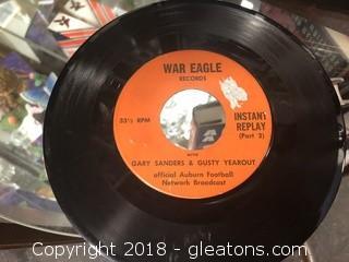 Vintage War Eagle Vinyl Broadcast 33 1/2 RPM - Gary Sanders & Gusty Yearout