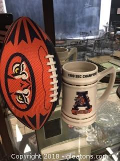 Nice Auburn Memorabilia Mug of 1989 Season with Auburn Football