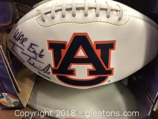 Signed in Box Tommy Tubberville Auburn Football