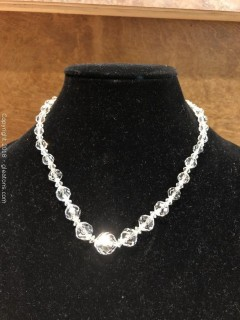 "Austrian Crystal Necklace, 18"""