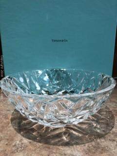 "Tiffany New in Box Crystal Bowl, 9"""