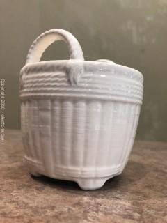 "Tiffany & Co. White Ceramic Vintage Jar, 4.5"""