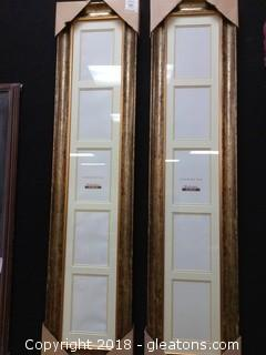 PAIR OF TALL PICTURE FRAMES - NEW