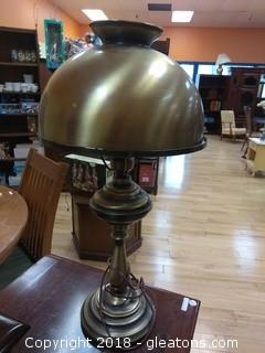 GOLD HURRICANE LAMP