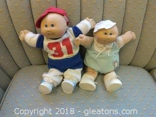 TWO SIGNED CABBAGE PATCH DOLLS