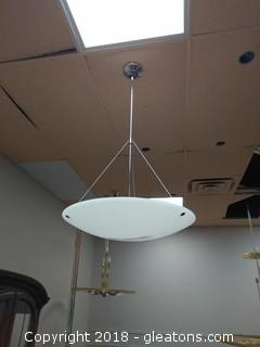 Moon Suspension Light Fixture New by Hampstead Lighting MSRP: $785.00