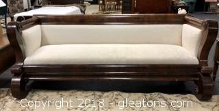 Upholstered Pew Sofa