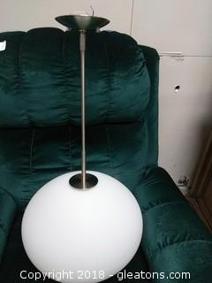 "14"" GLASS GLOBE PENDANT LIGHT By Hampstead Lighting"