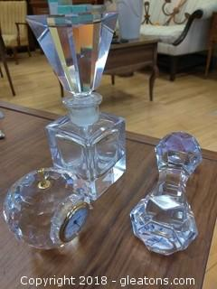 THREE PIECE CRYSTAL LOT