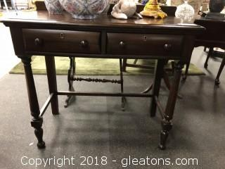 Antique Mahogany Table with Drawers