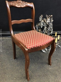 Accent Chair, Carved Rose Back, Mahogany