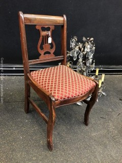 Accent Chair, Mahogany, Lyre Back