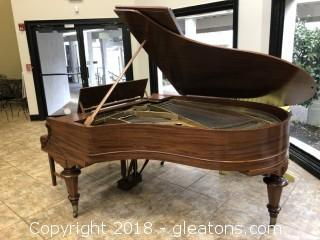 ANTIQUE KIMBALL GRAND PIANO WITH BENCH RESTORED